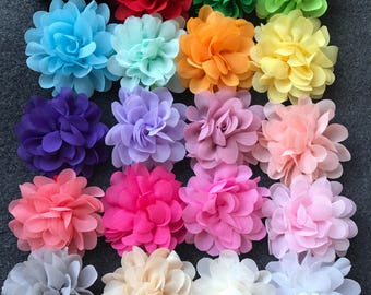 Set of 20 Chiffon Flower Hair Clips, Baby Hair Clips, Toddler Clips, Flower Hair Clips, Newborn Hair Clips, Chiffon Flower Hair Clips