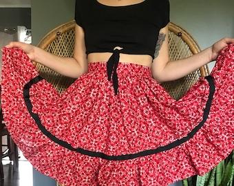1950s Novilty Circle Skirt