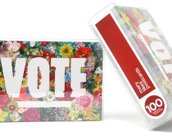 State Flowers Political Postcards: Set of 100 vote postcards, perfect for writing to your reps or get out the vote