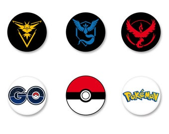 Lot Pins Ø25mm - o38mm Pinback Button Badge / Magnet o38mm Pokémon Go