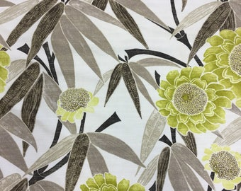 Harlequin Kaito lime cotton print fabric by the metre