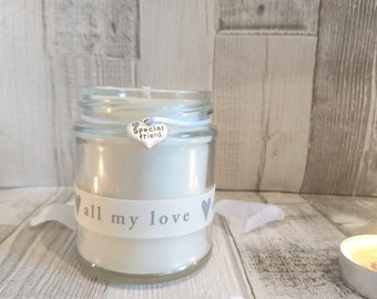 Special Friend (all my love) Scented Soy Candle Gift