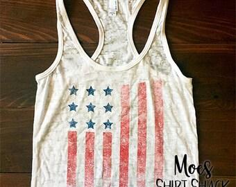 American Flag Clothing. American Flag Tank.