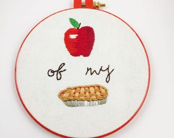 """Funny Embroidery Hoop Art 