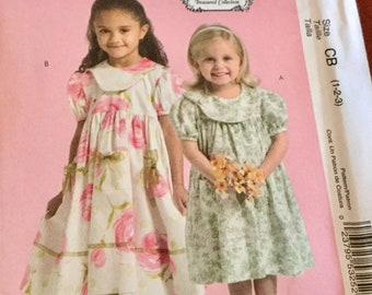 McCalls 5305 Toddlers and Childrens Dresses Pattern size 1-3   uncut