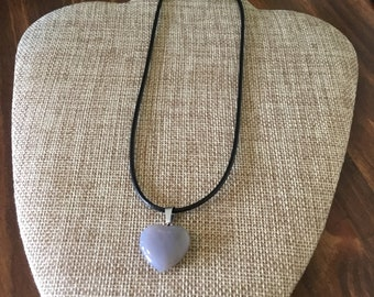 Purple Heart Gemstone Heart