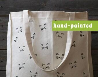 Cat lover gift/ cat purse/ Cat canvas bag/ cat tote bag/ cat canvas bag/ cat art/ cat decor