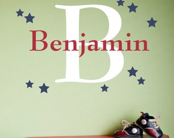 Star Custom Name Decal - Vinyl Decal - Nursery Children Boy