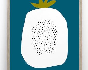 Harvest fruit bold print