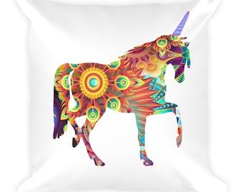 Colorful Horse Unicorn Pillow
