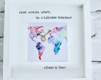 From worlds apart to a lifetime together frame