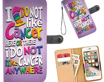All Cancers Wallet Phone Case - Gift Idea for a Cancer Survivor or Chemo Patient or For Yourself - Gift for Cancer Patient! Over 50+ phones