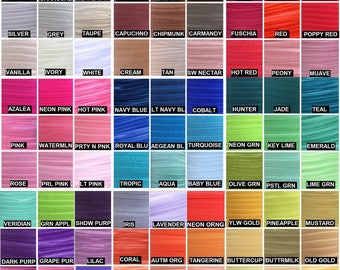 "Fold Over Elastic 5/8"", Fold Over Elastic for Headbands, 5/8"" Foldover Elastic By the Yard, 5 or 10 yards Over 80 Colors LISTING #1/2"
