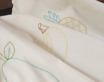 Reusable Produce Bags (set of 3) embroidered fruit bags