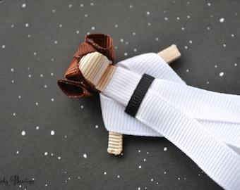 Ribbon Princes Leia ! Star wars Inspired hair clip !