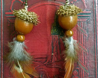 Hazelnut Earrings, Natural Jewelry, Nature Jewelry