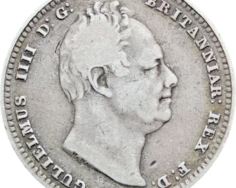 1834 Great Britain William IV One Shilling Coin