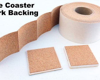25 Cork Backing With Adhesive For Tile Coasters - 25 pieces - SPECIAL SALE