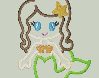 Sweet Mermaid Applique Design