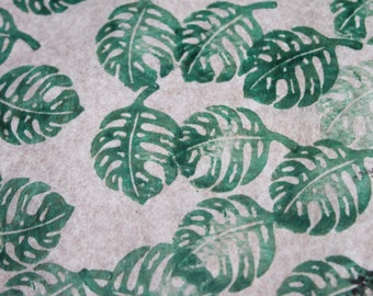 MONSTERA leaf stamp
