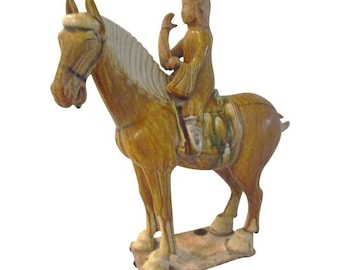 Ceramic Pottery Tang Design Stallion