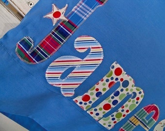 Personalized Pillowcase Name Appliqué -  birthday - camp - sleepover  - graduation