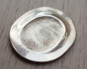 Silver Fingerprint Love Token - weddings, memories