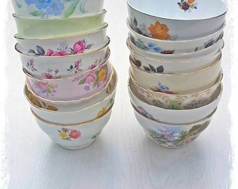 Sugar bowls, tea set, mismatch tea set, mismatch China, vintage China, high tea, vintage crockery, wedding crockery, wedding China, teaparty