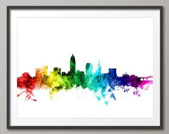 Cleveland Skyline, Cleveland Ohio Cityscape Art Print (2625)