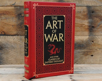 Book Safe - The Art of War - Leather Bound Hollow Book Safe