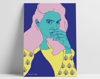 Turquoise Portrait Poster