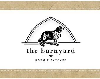 Custom Logo Design - PreDesigned Logo PreMade Logo - Vector Logo Design - OOAK Logo - the BARNYARD Logo Design - Brand Design - Dog Logo