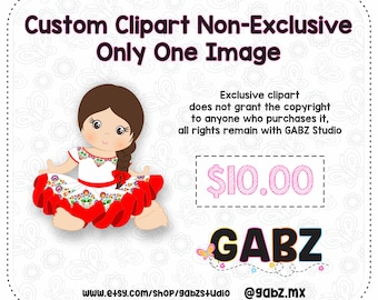 Custom Clipart Non-Exclusive Only One Image, Clipart, GABZ, Not applicable with discount coupons.