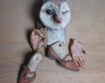 Custom Winking Owl Anthro Art Doll Bust, Bodkin Pattern A, D Compatible
