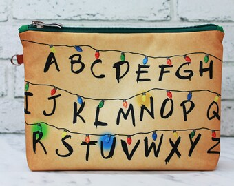 Stranger Things Christmas Lights Cosmetic Bag Makeup pouch Travel bag Accessory bag Zipper pouch Storage bag Makeup bag Pencil Case