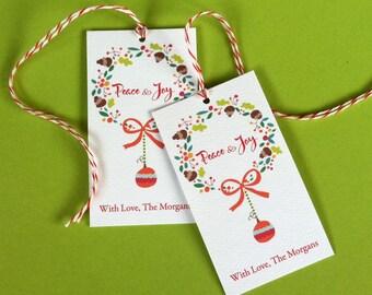 Personalized Christmas Tags, Holiday Tags, Christmas Tags, Gift Tags, Set of 20