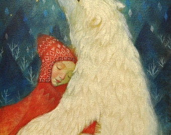 """Limited edition giclée print of original painting by Lucy Campbell - """"magical pelt"""""""