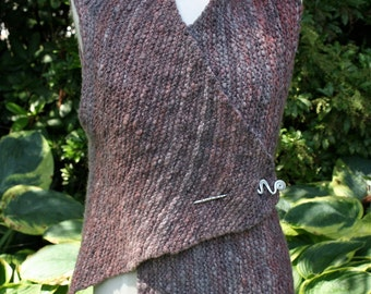 PATTERN for One-Piece Asymmetrical Vest in Bulky Yarn