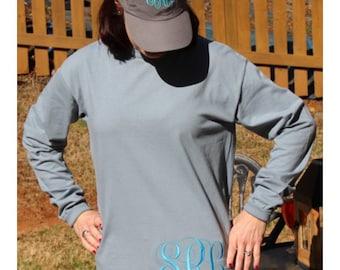 COMBO-- Comfort Colors Long Sleeve T-Shirt and baseball cap COMBO