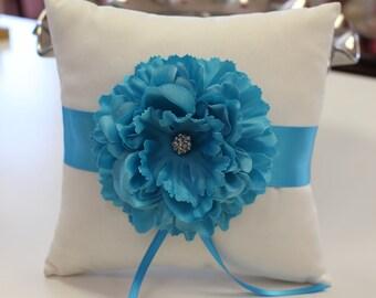 Ring Bearer Pillow with Flower/ Wedding Pillow
