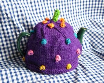 Purple Spotted Tea Cosy