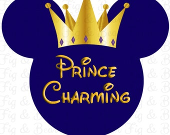 Disney Prince Charming Boys or Men's T Shirt Iron On Transfer Personalized FREE