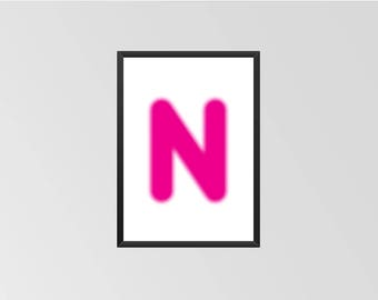 The letter N - Print (Neon)