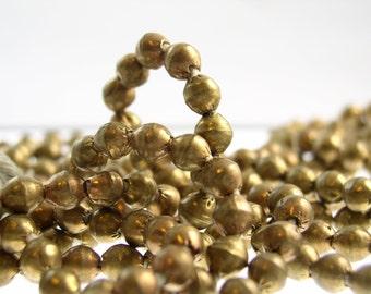 Bronze-7 mm Perlen aus Äthiopien (10 Perlen)