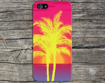 Neon Palm Trees x Island Sunset Phone Case, iPhone X, iPhone 8 Plus, Tough iPhone Case, Galaxy s9, Samsung Galaxy Case Note 8 CASE ESCAPE