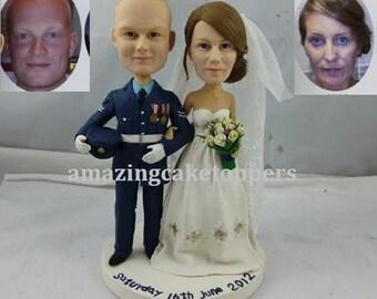 bride and groom custom cake topper from your photo figurine cake topper personalized cake topper birthday cake topper wedding shower