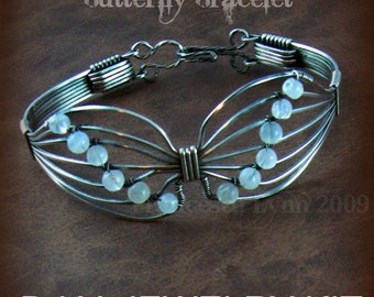 DIY JEWELRY KIT for Wire Wrapped Butterfly Bracelets, Jewelry Tutorials, Learn to Wire Wrap  (pdf tutorial on cd along with supplies)