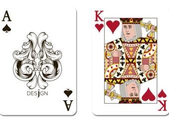 Desjgn 100% Plastic Playing Cards - Poker Size, Regular Index New 1 Set