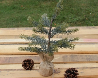 Small Christmas Pine Tree with Glitter