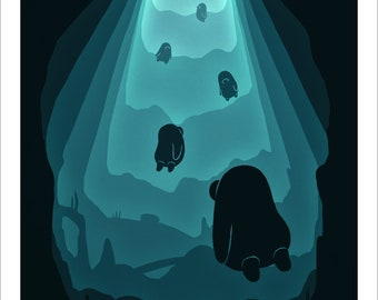 Underwater, A5 print